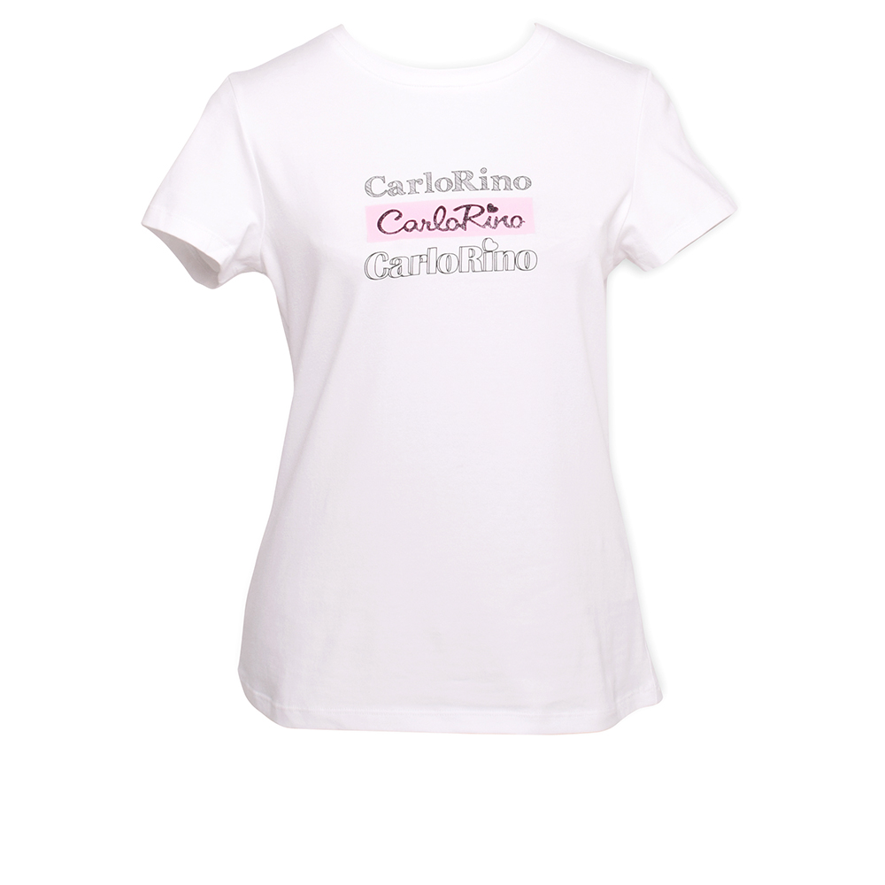 carlorino tshirt 31T001 F002 01 1 - Round-neck CR Print Tee