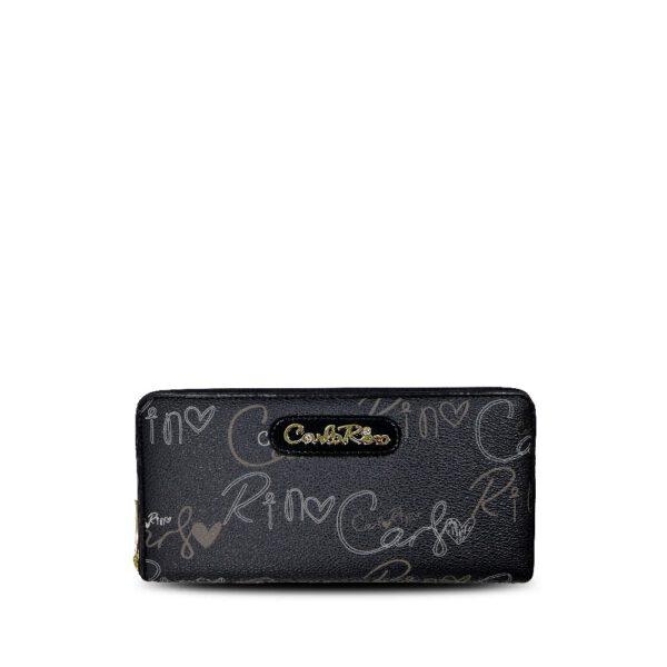 carlorino wallet 0303059 503 08 1 600x600 - Calligraphy Monogram Zip-around Wallet