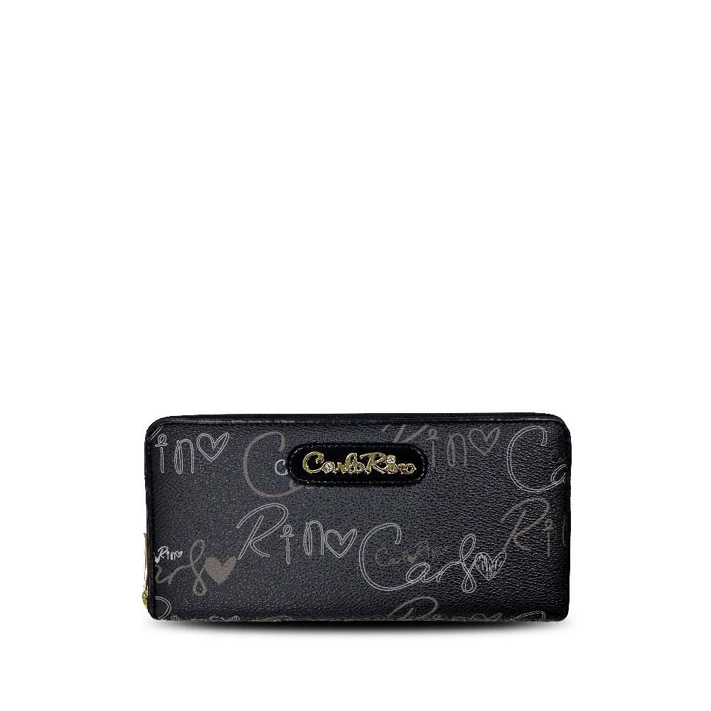 carlorino wallet 0303059 503 08 1 - Calligraphy Monogram Zip-around Wallet