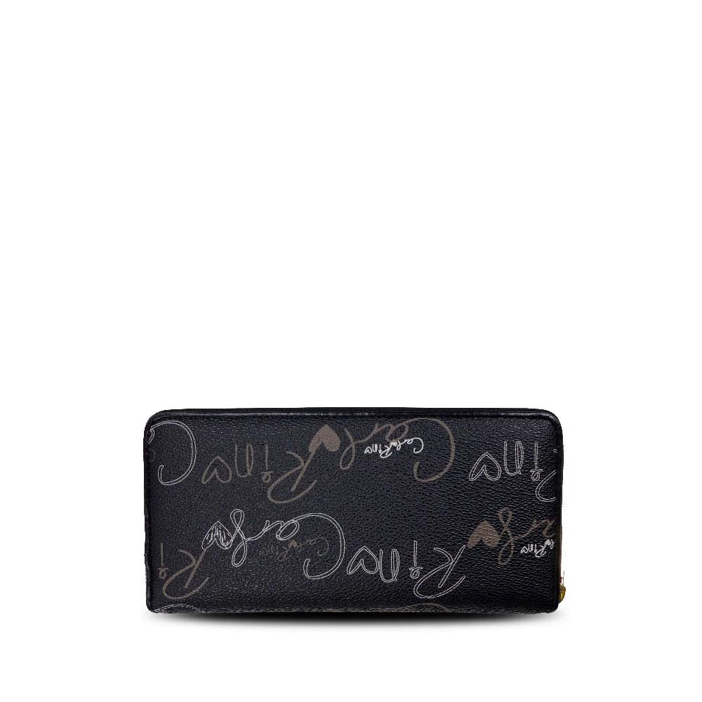 carlorino wallet 0303059 503 08 2 - Calligraphy Monogram Zip-around Wallet