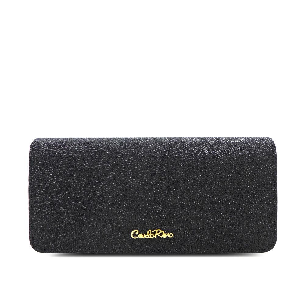 carlorino wallet 0304322A 501 08 1 - Stargaze Glittery 2-fold Long Wallet