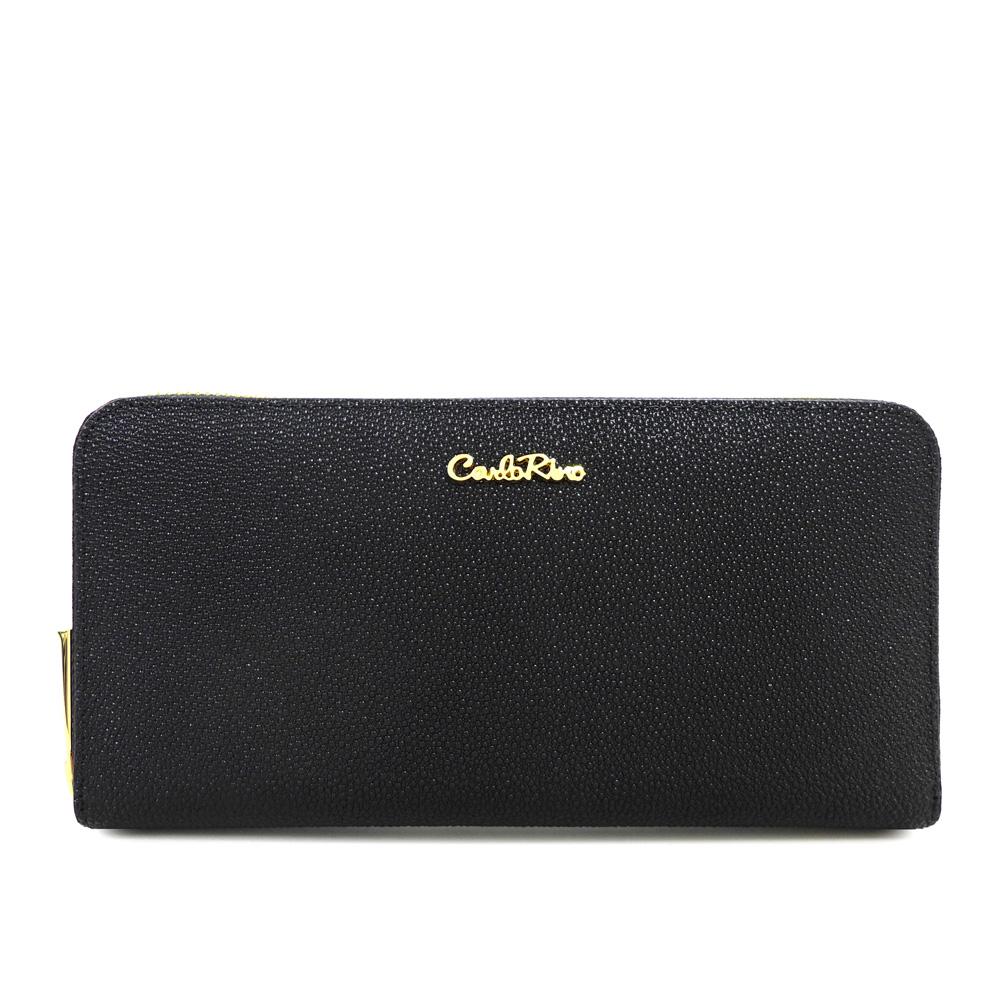 carlorino wallet 0304322A 502 08 1 - Stargaze Glittery Zip-around Wallet