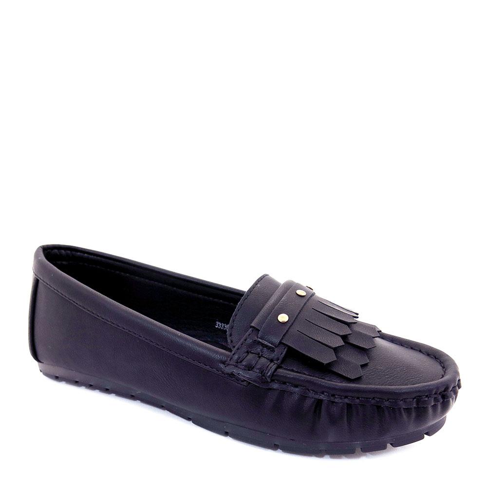 carlorino shoe 33330 E001 13 1 - Studded Wrinkly Vamp Loafers