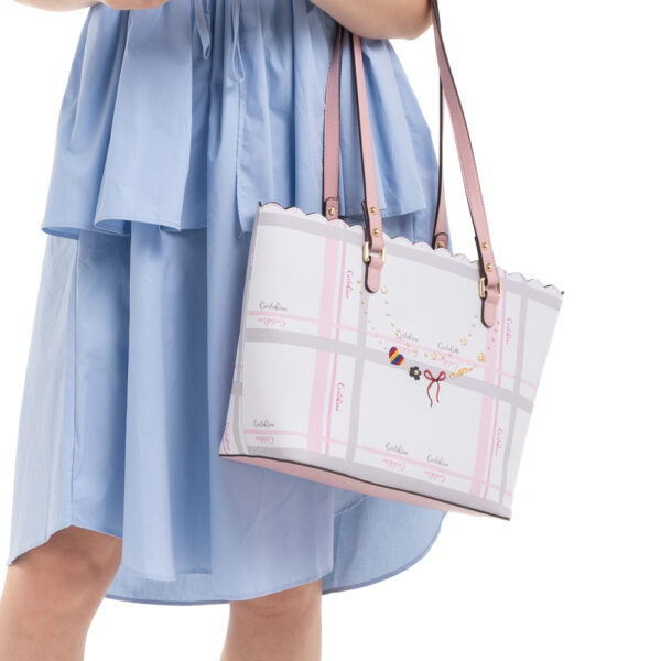 0304740E 004 34 - Embroidered Charmed Series Shoulder Tote