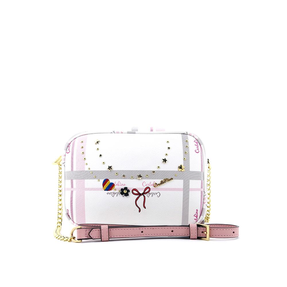 carlorino bag 0304740E 001 34 1 - Embroidered Charmed Series Top Zip Cross Body