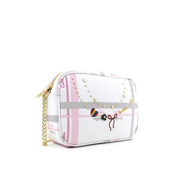 carlorino bag 0304740E 001 34 3 - Embroidered Charmed Series Top Zip Cross Body