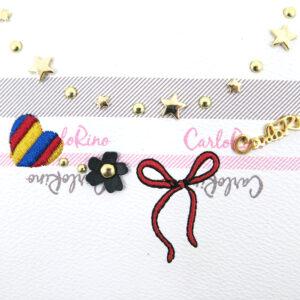 carlorino bag 0304740E 001 34 5 - Embroidered Charmed Series Top Zip Cross Body