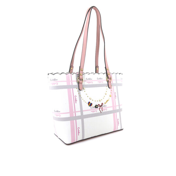 carlorino bag 0304740E 004 34 3 - Embroidered Charmed Series Shoulder Tote