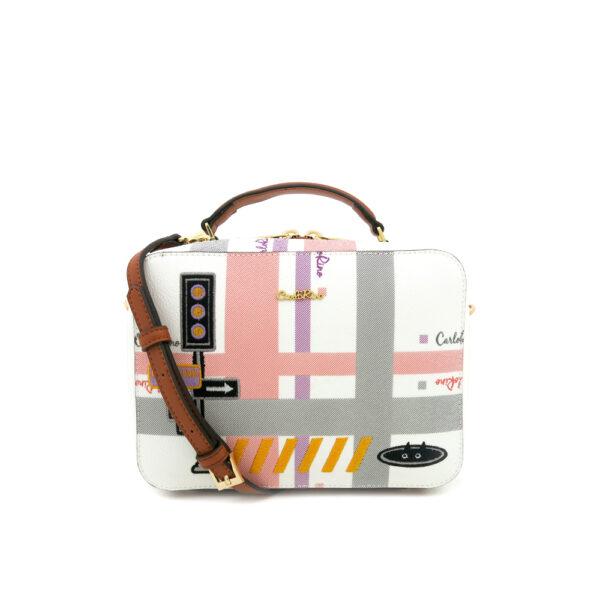 carlorino bag 0304756G 001 05 1 600x600 - Gratifying Graphic Boxy Top Handle