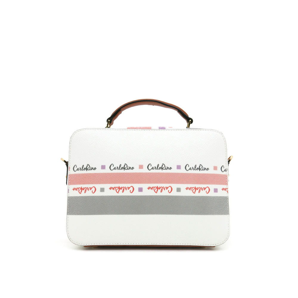 carlorino bag 0304756G 001 05 2 - Gratifying Graphic Boxy Top Handle