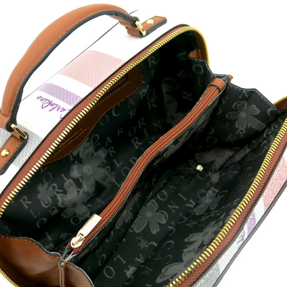carlorino bag 0304756G 001 05 4 - Gratifying Graphic Boxy Top Handle