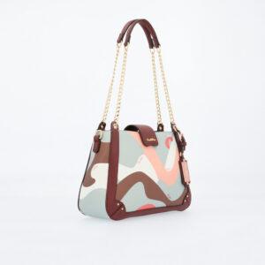 carlorino bag 0304819G 004 14 3 - Posh in Pink Chain Link Shoulder Bag