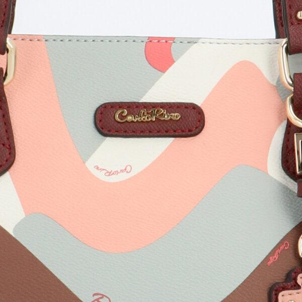 carlorino bag 0304819G 007 14 5 - Posh in Pink Shoulder Tote