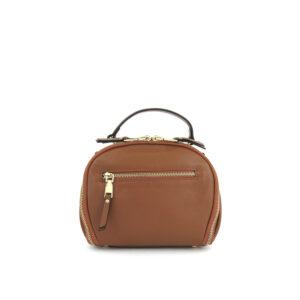 carlorino bag 0304875F 001 35 2 - Leather Bash Round Zip-around Cross Body