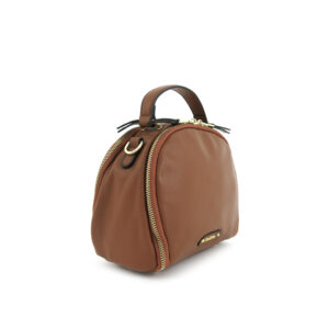 carlorino bag 0304875F 001 35 3 - Leather Bash Round Zip-around Cross Body