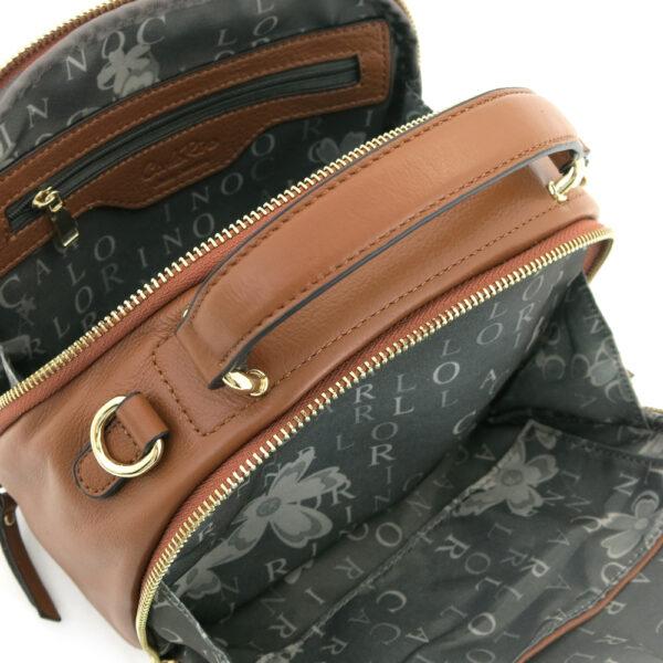 carlorino bag 0304875F 001 35 4 - Leather Bash Round Zip-around Cross Body