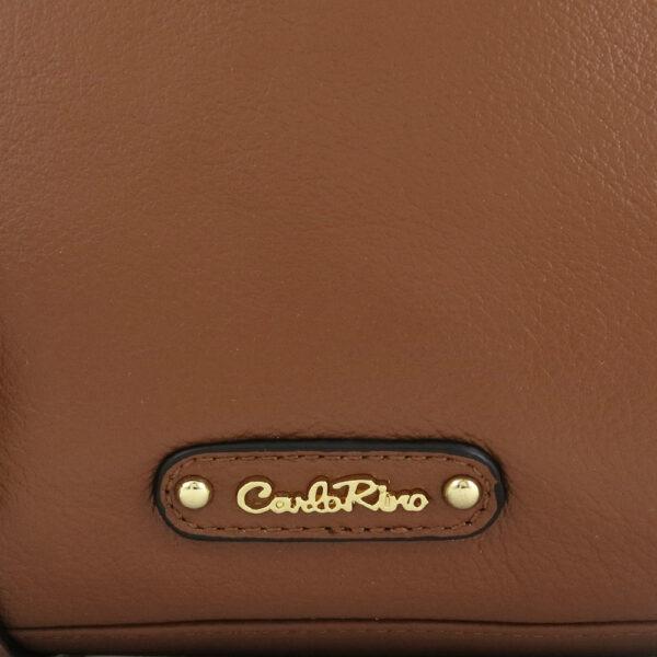 carlorino bag 0304875F 001 35 5 - Leather Bash Round Zip-around Cross Body