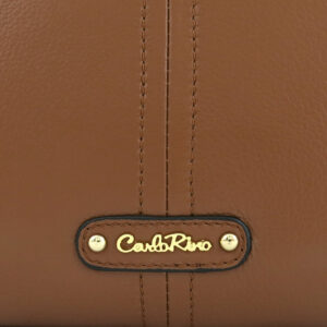 carlorino bag 0304875F 002 35 5 - Leather Bash Oblong Top Handle