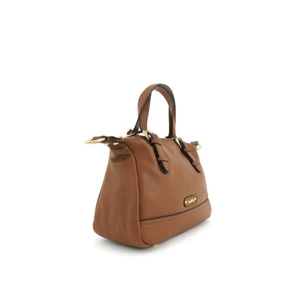 carlorino bag 0304875F 003 35 3 - Leather Bash Hobo Top Handle