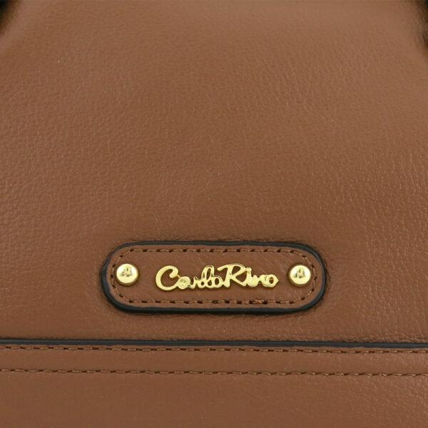 carlorino bag 0304875F 003 35 5 - Leather Bash Hobo Top Handle