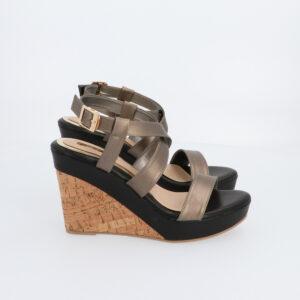 "carlorino shoe 33300 G001 08 2 300x300 - 4"" Lead the Way Wedges with Metallic Strap"