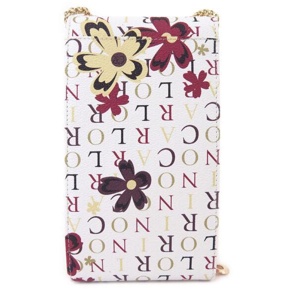 carlorino wallet 0304617D 704 24 2 600x600 - Signature Print Cross Body Vertical Wallet