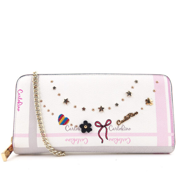carlorino wallet 0304740E 501 34 1 600x600 - Embroidered Charmed Series Wallet - Style 1