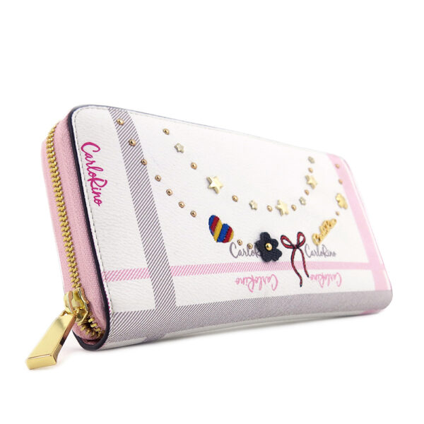 carlorino wallet 0304740E 501 34 3 600x600 - Embroidered Charmed Series Wallet - Style 1
