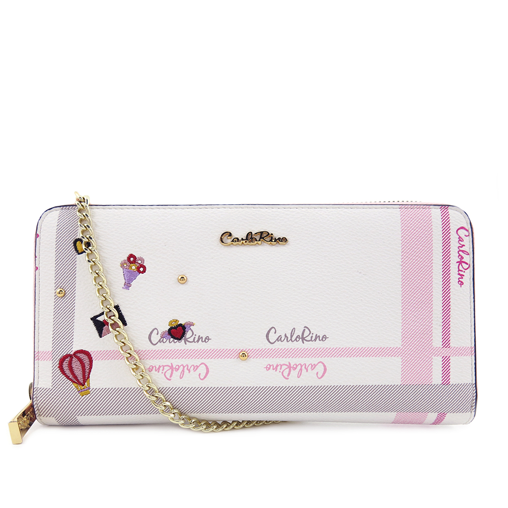 carlorino wallet 0304740E 503 34 1 - Embroidered Charmed Series Wallet - Style 3