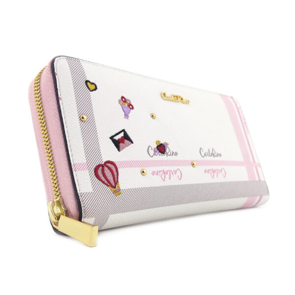 carlorino wallet 0304740E 503 34 3 - Embroidered Charmed Series Wallet - Style 3