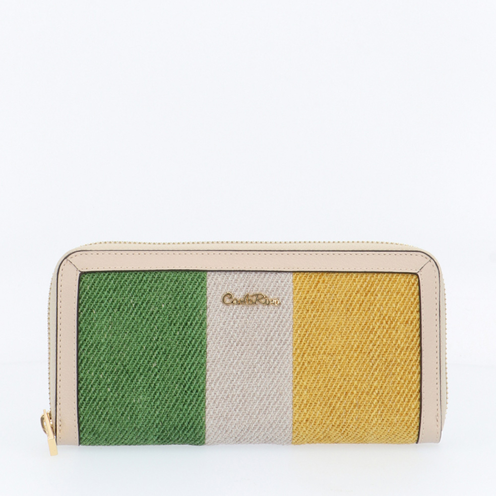 carlorino wallet 0304787G 503 21 1 - Striped-a-pose Zip-around Wallet