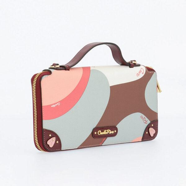 carlorino wallet 0304819G 505 14 3 - Posh in Pink Chain Link Top Handle Wallet