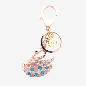 carlorino accessories C83005 C315 02 1 300x300 - Gold Gem Encrusted Flower Bag Charm