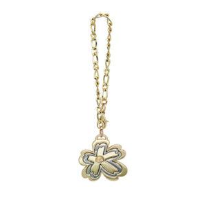 carlorino accessories c83005 0250 02 1 300x300 - Gold Gem Encrusted Flower Bag Charm