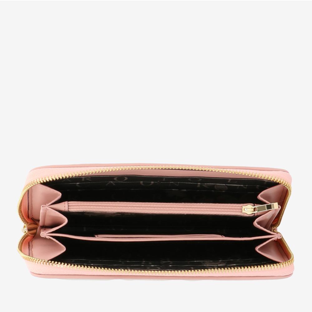 carlorino wallet 0304944G 502 21 4 - Tickled Pink Cushy Zip-around Wallet