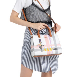 0304756G 003 05 300x300 - Gratifying Graphic Top Handle Tote