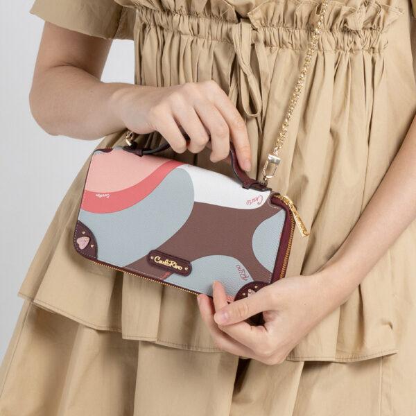 0304819G 505 14 - Posh in Pink Chain Link Top Handle Wallet
