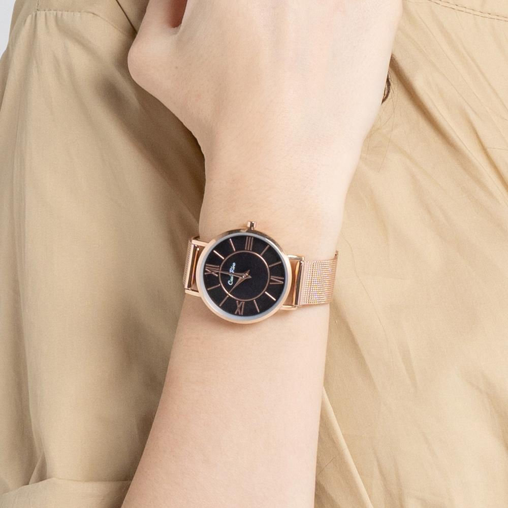 A93301 G007 32 - Roman Indulgence Mesh Band Timepiece