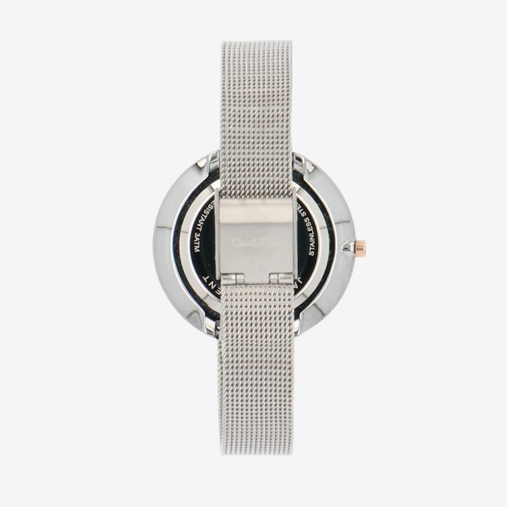 carlorino watch A93301 G019 12 3 - A Meshy Business Mesh Band Timepiece