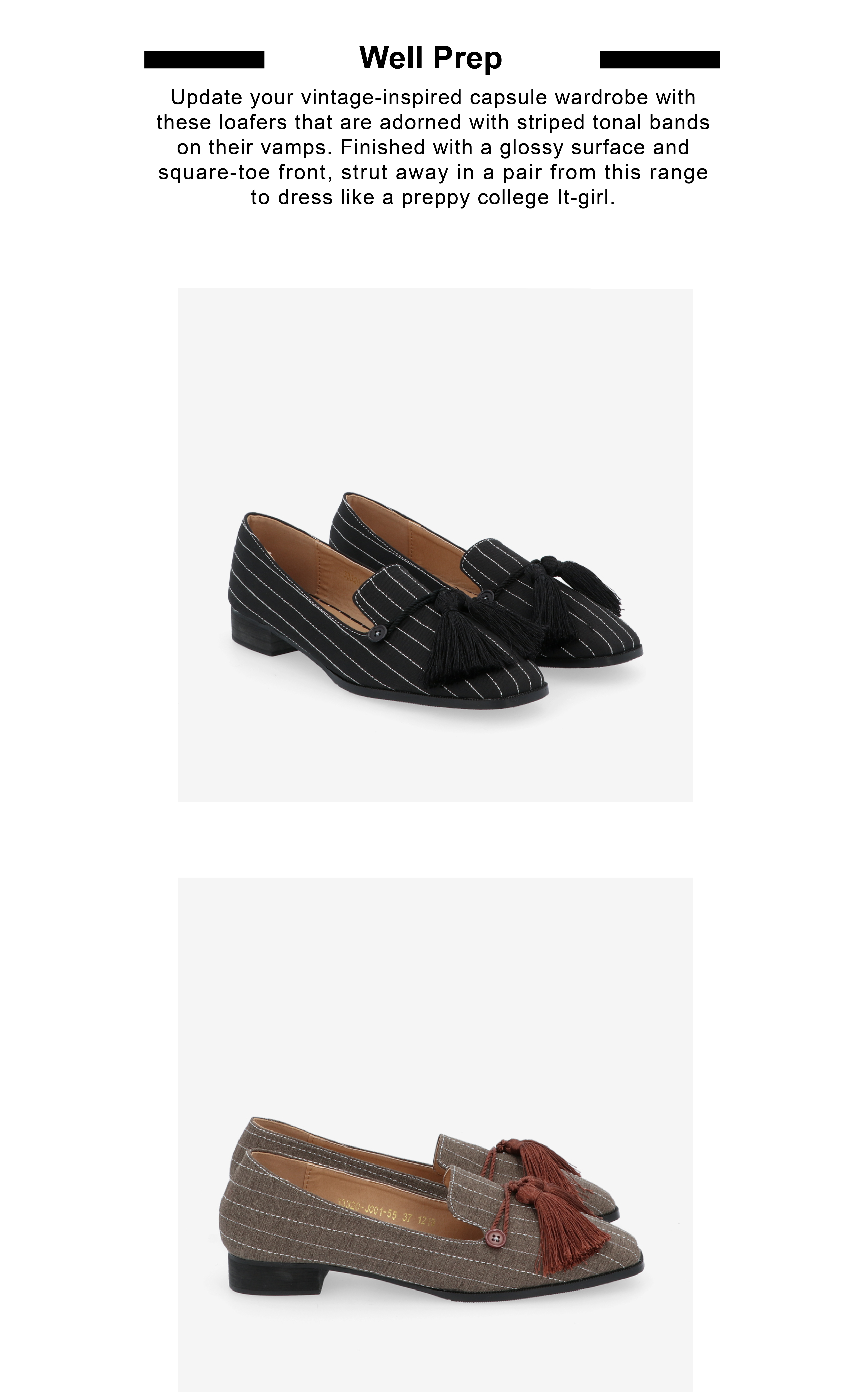 "33320 J001 02 - 1"" Suri In Stripes Loafers"