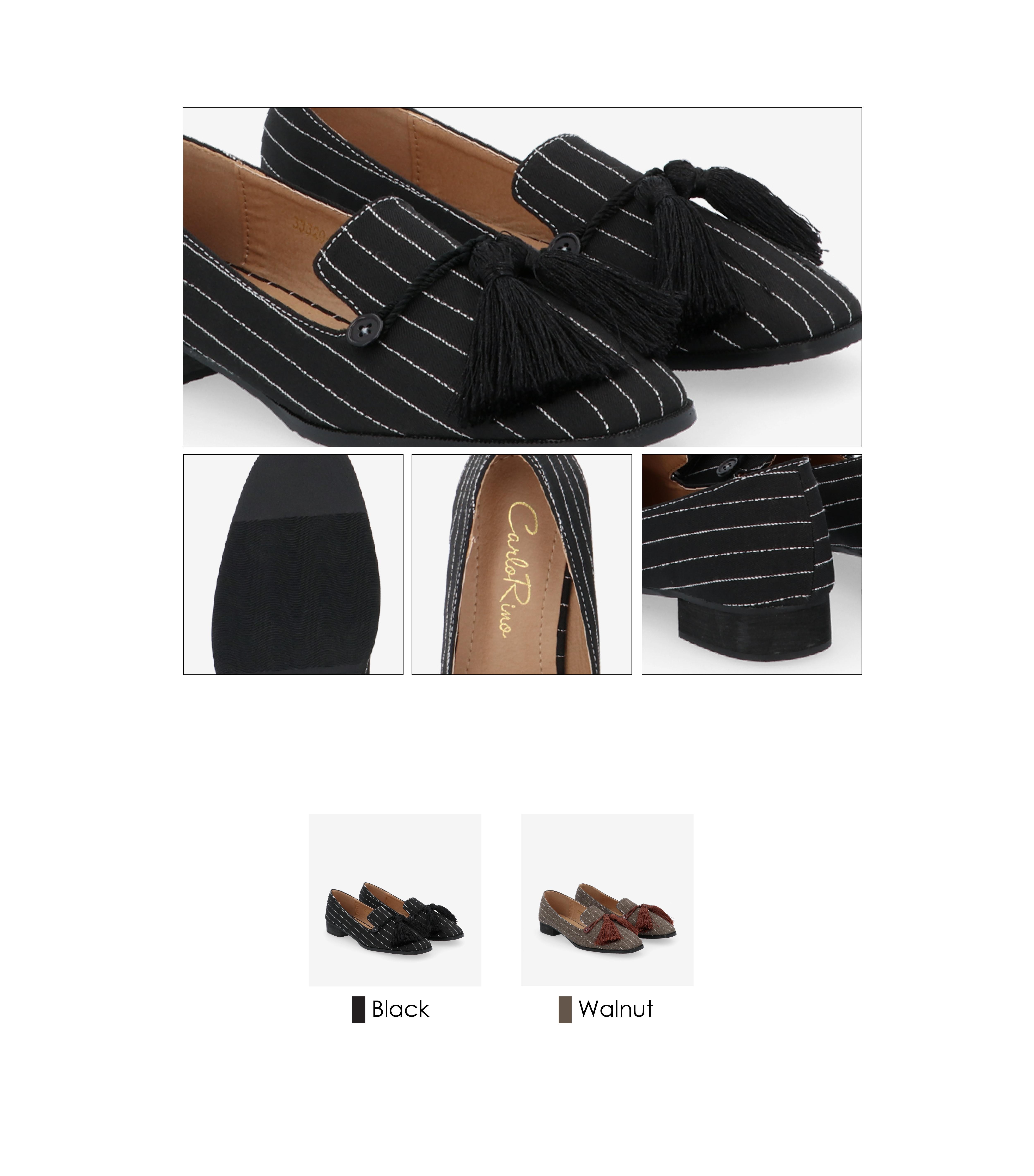 "33320 J001 03 - 1"" Suri In Stripes Loafers"