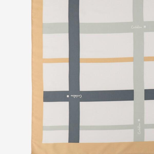 carlorino scarf 31S02 G001 21 2 - Iconic Stripes Long Silk Scarf