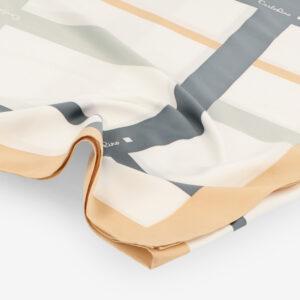 carlorino scarf 31S02 G001 21 3 - Iconic Stripes Long Silk Scarf