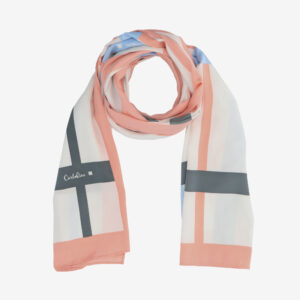 carlorino scarf 31S02 G001 24 1 - Iconic Stripes Long Silk Scarf