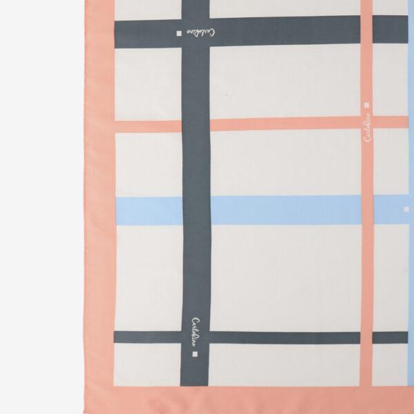 carlorino scarf 31S02 G001 24 2 - Iconic Stripes Long Silk Scarf