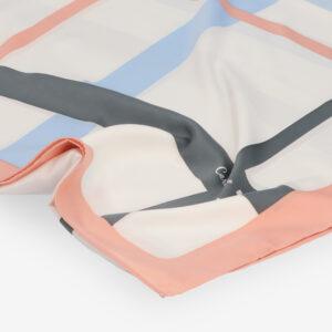 carlorino scarf 31S02 G001 24 3 - Iconic Stripes Long Silk Scarf