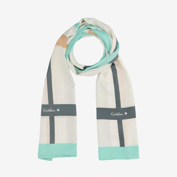 carlorino scarf 31S02 G001 26 1 - Iconic Stripes Long Silk Scarf