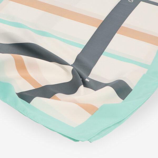 carlorino scarf 31S02 G001 26 3 - Iconic Stripes Long Silk Scarf