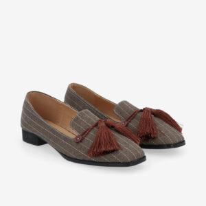 "carlorino shoe 33320 J001 55 1 - 1"" Suri In Stripes Loafers"