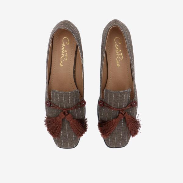 "carlorino shoe 33320 J001 55 3 - 1"" Suri In Stripes Loafers"